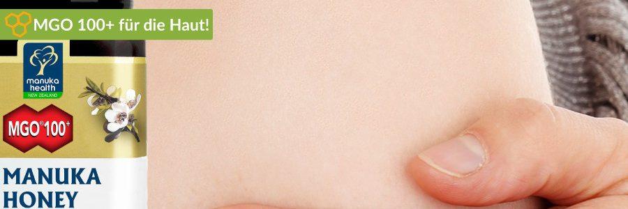 MGO 100 hat die beste Wirkung für die Haut.