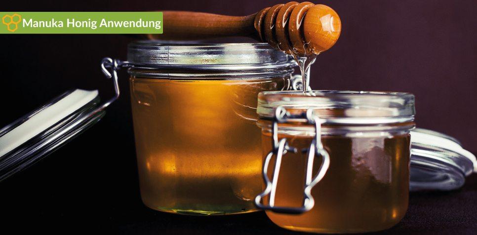 Manuka Honig Anwendung: Haut, Nasennebenhöhlenentzündung, Akne, Husten und Erkältung.