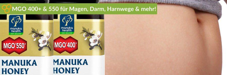 Manuka Honig Wirkung bei internen Beschwerden von Magen und Darm.